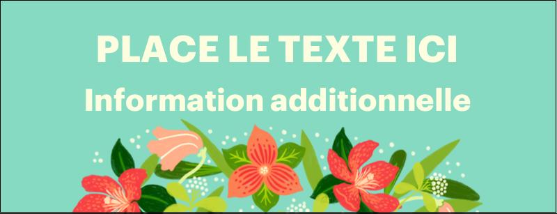 Pleine floraison  Affichette - gabarit prédéfini. <br/>Utilisez notre logiciel Avery Design & Print Online pour personnaliser facilement la conception.