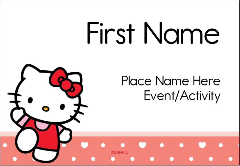 "3⅜"" x 2⅓"" Name Badge - We love Hello Kitty"