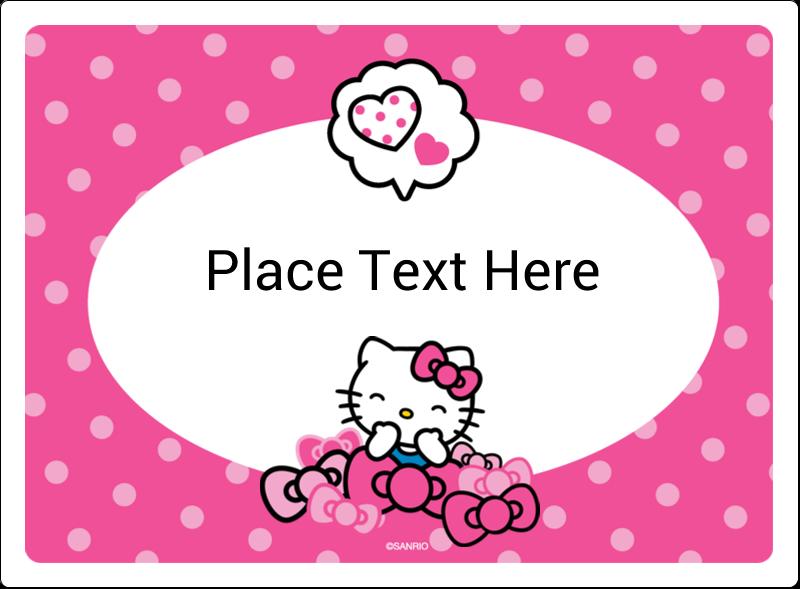 "3½"" x 4¾"" Rectangular Label - Hello Kitty Giggles"