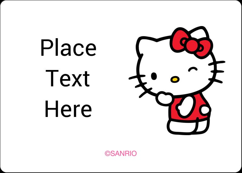"1¾"" x 1¼"" ID Label - Sweet Hello Kitty"