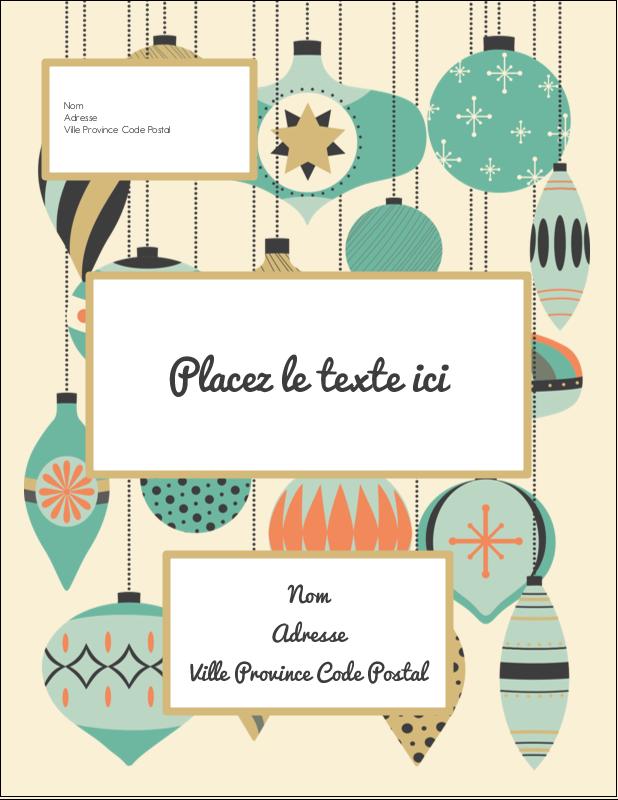 """4¼"""" X 5½"""" Carte Postale - Motif de décorations"""