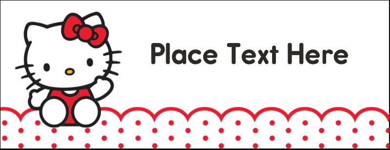 "1-7/16"" x 3¾"" Tent Card - Hello Kitty Waving"