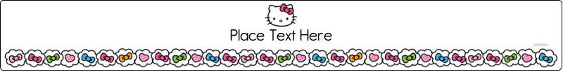 "9¾"" x 1¼"" Wraparound Label - Hello Kitty Hearts and Bows"