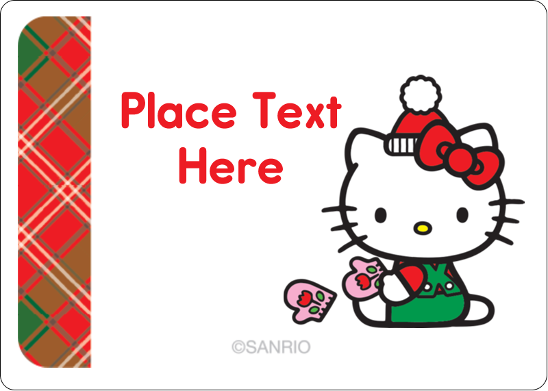 """1¾"""" x 1¼"""" ID Label - Warm Holiday Wishes"""