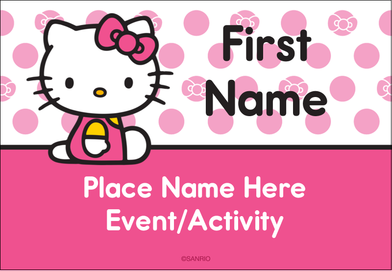"""3⅜"""" x 2⅓"""" Name Badge - Pretty in Pink"""