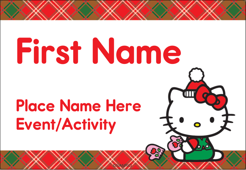 """3⅜"""" x 2⅓"""" Name Badge - Warm Holiday Wishes"""