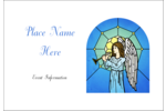 Bring a sense of grace to projects with pre-designed Holiday Stained Glass Angel templates.