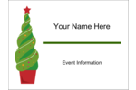 Quickly make custom projects more festive with pre-designed Holiday Topiary templates.