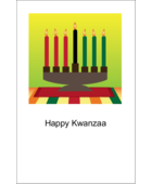 Add a bold, festive feel to custom projects with pre-designed Kwanzaa Green Glow templates.