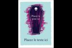 Cercueil d'Halloween Étiquettes rectangulaires - gabarit prédéfini. <br/>Utilisez notre logiciel Avery Design & Print Online pour personnaliser facilement la conception.