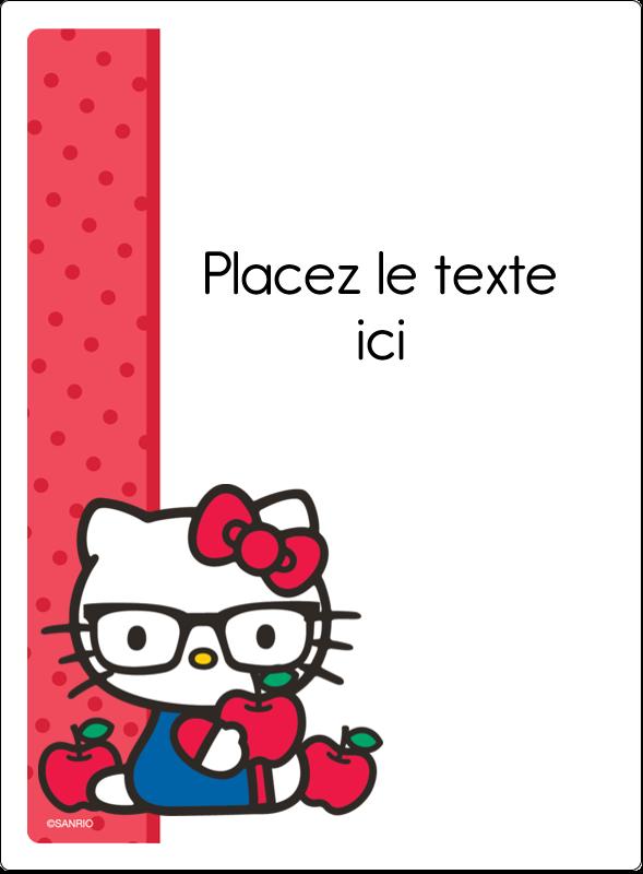 """4¾"""" x 3½"""" Étiquettes rectangulaires - Votre Ami Hello Kitty"""