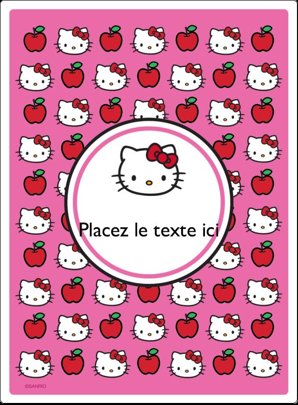 """4¾"""" x 3½"""" Étiquettes rectangulaires - Hello Kitty adore les pommes!"""