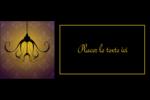 Chandelier macabre élégant d'Halloween Affichette - gabarit prédéfini. <br/>Utilisez notre logiciel Avery Design & Print Online pour personnaliser facilement la conception.