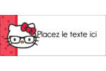 Votre Ami Hello Kitty Affichette - gabarit prédéfini. <br/>Utilisez notre logiciel Avery Design & Print Online pour personnaliser facilement la conception.