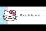 Hello Kitty avec des lunettes Affichette - gabarit prédéfini. <br/>Utilisez notre logiciel Avery Design & Print Online pour personnaliser facilement la conception.