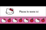 Hello Kitty adore les pommes! Affichette - gabarit prédéfini. <br/>Utilisez notre logiciel Avery Design & Print Online pour personnaliser facilement la conception.