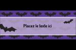 Chauves-souris d'Halloween Affichette - gabarit prédéfini. <br/>Utilisez notre logiciel Avery Design & Print Online pour personnaliser facilement la conception.