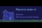 Maison hantée d'Halloween à la craie Étiquettes D'Adresse - gabarit prédéfini. <br/>Utilisez notre logiciel Avery Design & Print Online pour personnaliser facilement la conception.