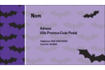 Chauves-souris d'Halloween Carte d'affaire - gabarit prédéfini. <br/>Utilisez notre logiciel Avery Design & Print Online pour personnaliser facilement la conception.