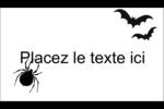 Prime d'Halloween Carte d'affaire - gabarit prédéfini. <br/>Utilisez notre logiciel Avery Design & Print Online pour personnaliser facilement la conception.