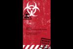 Apocalypse zombie d'Halloween Carte d'affaire - gabarit prédéfini. <br/>Utilisez notre logiciel Avery Design & Print Online pour personnaliser facilement la conception.