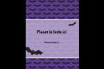 Chauves-souris d'Halloween Carte Postale - gabarit prédéfini. <br/>Utilisez notre logiciel Avery Design & Print Online pour personnaliser facilement la conception.
