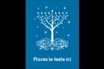 Arbre de Hanoukka Carte Postale - gabarit prédéfini. <br/>Utilisez notre logiciel Avery Design & Print Online pour personnaliser facilement la conception.