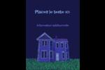 Maison hantée d'Halloween à la craie Carte Postale - gabarit prédéfini. <br/>Utilisez notre logiciel Avery Design & Print Online pour personnaliser facilement la conception.