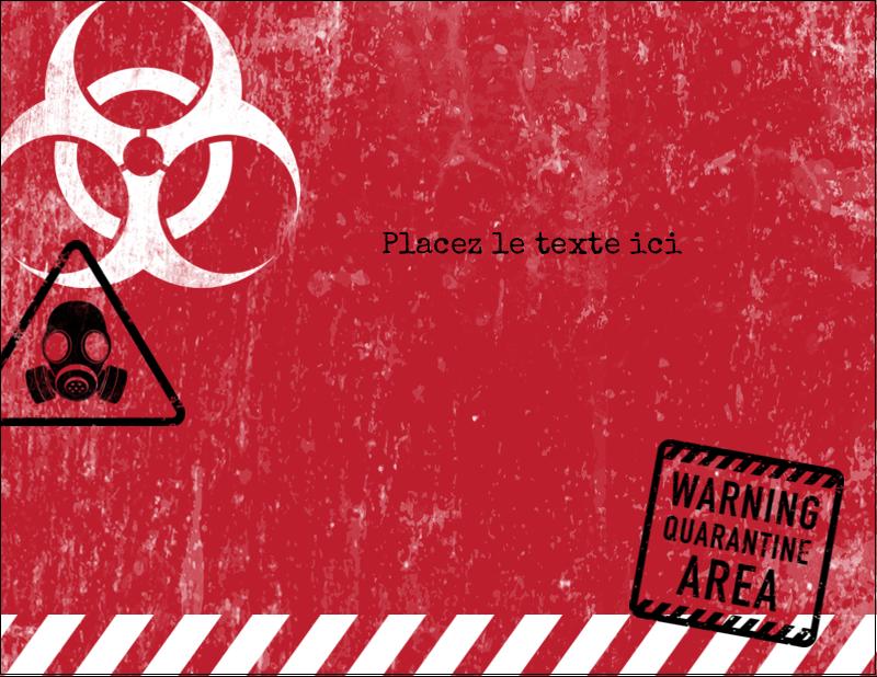 "4¼"" X 5½"" Carte Postale - Apocalypse zombie d'Halloween"