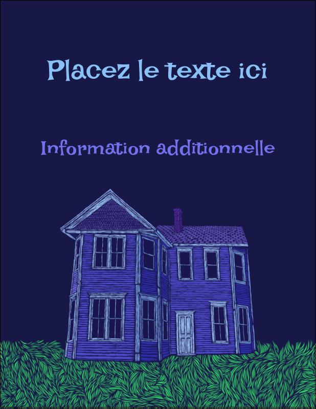 """5½"""" x 4¼"""" Carte Postale - Maison hantée d'Halloween à la craie"""