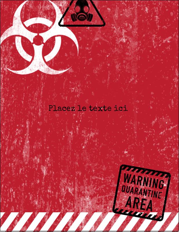 "5½"" x 4¼"" Carte Postale - Apocalypse zombie d'Halloween"