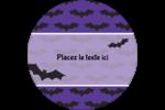 Chauves-souris d'Halloween Étiquettes rondes - gabarit prédéfini. <br/>Utilisez notre logiciel Avery Design & Print Online pour personnaliser facilement la conception.