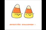 Bonbons de maïs d'Halloween Étiquettes d'expédition - gabarit prédéfini. <br/>Utilisez notre logiciel Avery Design & Print Online pour personnaliser facilement la conception.