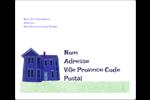 Maison hantée d'Halloween à la craie Étiquettes d'expédition - gabarit prédéfini. <br/>Utilisez notre logiciel Avery Design & Print Online pour personnaliser facilement la conception.