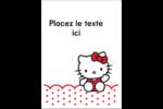 Salut Hello Kitty Étiquettes rectangulaires - gabarit prédéfini. <br/>Utilisez notre logiciel Avery Design & Print Online pour personnaliser facilement la conception.