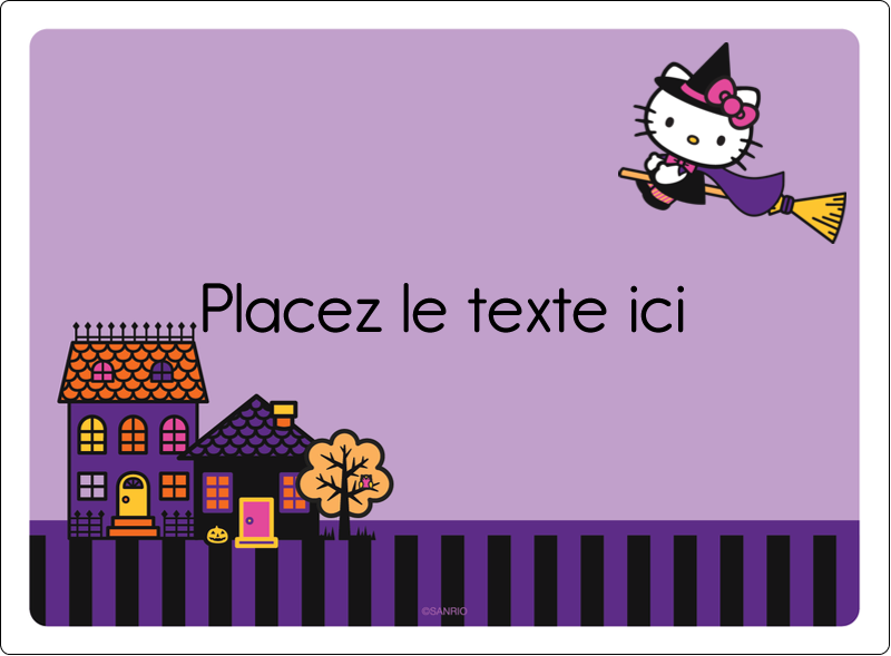 "4¾"" x 3½"" Étiquettes rectangulaires - Halloween Hello Kitty"