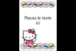 Hello Kitty Cœurs et Nœuds Étiquettes rectangulaires - gabarit prédéfini. <br/>Utilisez notre logiciel Avery Design & Print Online pour personnaliser facilement la conception.
