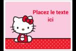 Hello Kitty super mignonne Étiquettes rectangulaires - gabarit prédéfini. <br/>Utilisez notre logiciel Avery Design & Print Online pour personnaliser facilement la conception.