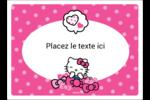 Hello Kitty rigole Étiquettes rectangulaires - gabarit prédéfini. <br/>Utilisez notre logiciel Avery Design & Print Online pour personnaliser facilement la conception.