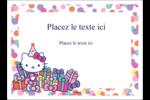Hello Kitty Anniversaire Étiquettes rectangulaires - gabarit prédéfini. <br/>Utilisez notre logiciel Avery Design & Print Online pour personnaliser facilement la conception.