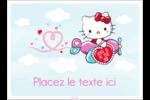 Hello Kitty Saint-Valentin - Mon cœur monte pour vous Étiquettes rectangulaires - gabarit prédéfini. <br/>Utilisez notre logiciel Avery Design & Print Online pour personnaliser facilement la conception.