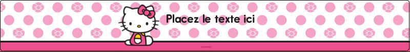 """9¾"""" x 1¼"""" Étiquettes enveloppantes - Jolie en rose"""