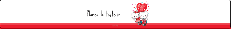 "9¾"" x 1¼"" Étiquettes enveloppantes - Hello Kitty et Cher Daniel Valentin"
