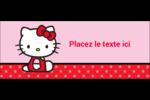 Hello Kitty super mignonne Affichette - gabarit prédéfini. <br/>Utilisez notre logiciel Avery Design & Print Online pour personnaliser facilement la conception.