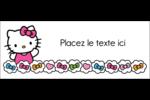 Hello Kitty Cœurs et Nœuds Affichette - gabarit prédéfini. <br/>Utilisez notre logiciel Avery Design & Print Online pour personnaliser facilement la conception.