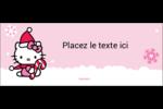 Canne en bonbon de Noël Hello Kitty Affichette - gabarit prédéfini. <br/>Utilisez notre logiciel Avery Design & Print Online pour personnaliser facilement la conception.