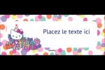 Hello Kitty Anniversaire Affichette - gabarit prédéfini. <br/>Utilisez notre logiciel Avery Design & Print Online pour personnaliser facilement la conception.