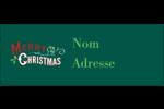 Joyeux Étiquettes D'Adresse - gabarit prédéfini. <br/>Utilisez notre logiciel Avery Design & Print Online pour personnaliser facilement la conception.