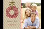 Couronnes de Noël Carte Postale - gabarit prédéfini. <br/>Utilisez notre logiciel Avery Design & Print Online pour personnaliser facilement la conception.