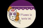 Halloween, jour des Morts Étiquettes rondes - gabarit prédéfini. <br/>Utilisez notre logiciel Avery Design & Print Online pour personnaliser facilement la conception.